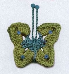 Create beautiful crochet butterflies! Find the pattern pages in the following links: 1 2
