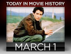 "1985 – John Cusack first made his mark as a go-to rom-com main-man when ""The Sure Thing"" opened wide on this day."