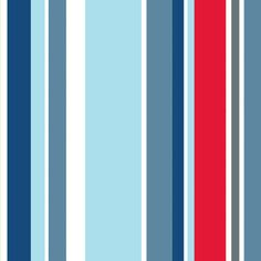Long Island Stripe - Kids @ Home Wallpapers - A fun barcode style stripe design showing in shades of blue, red, grey and white - other colour ways available. Please ask for sample for true colour match. Blue Grey Wallpaper, Nautical Wallpaper, Blue Painted Walls, Nautical Bedroom, Home Wallpaper, Wallpaper Ideas, Amazing Paintings, Grey Paint, Painting Patterns