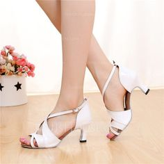 [US$ 16.99] Women's Leatherette Heels Sandals Latin With Buckle Hollow-out Dance Shoes (053108033)