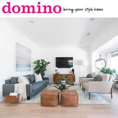 Just sipping coffee and looking at our #lgdmidmodhouse splashed across the pages of @dominomag!!! ☺️  The home tour is on their site featuring the almost unbelievable before/after photos and all the details of this incredible transformation! Loved working with client (and photog of all the pretty images) @jasminestar to bring their home to LIFE! Go check out the goods! #lindyegallowaydesign #interiordesign #sodomino