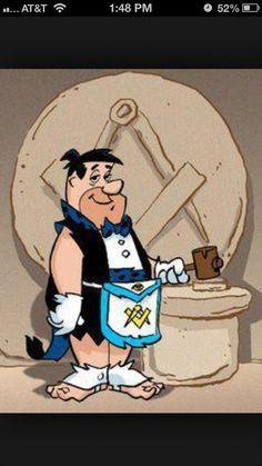 Freemason Comic Reference - Square and Compasses - Flintstones