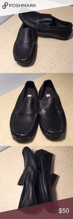 Steve Madden Slip On  Leather Loafers Steve Madden black leather slip ons / loafers is preloved. No scuffs, no tears and in great condition as seen on pictures. Steve Madden Shoes Loafers & Slip-Ons