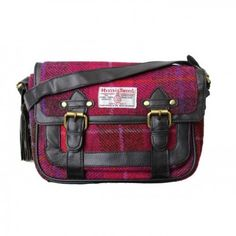 e27921dbbe Harris Tweed WomensLadies Authentic Premium Shoulder Strap Satchel One Size  Cerise -- Check this awesome