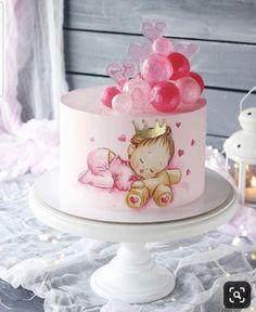 Duru Pretty Cakes, Cute Cakes, Beautiful Cakes, Amazing Cakes, Fondant Cakes, Cupcake Cakes, Bolo Cake, Baby Girl Cakes, Modern Cakes