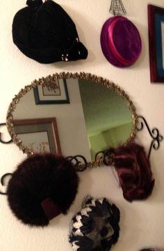 Vintage hats on display in my bedroom. Hat Display, Wall Decor, Vintage Hats, Decor Ideas, Bedroom, Wall Hanging Decor, Bedrooms, Wall Decorations, Dorm Room