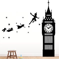Peter Pan Big Ben Wall Decal – The Decal Guru