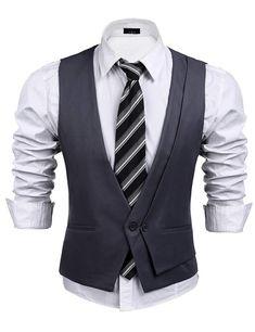 7b7e6b287a5 JINIDU Men s Double Breasted Classic Suit Vest
