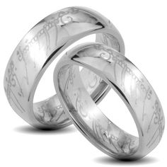 @Overstock - 'The One' laser-etched Elvish script wedding band setTungsten carbide jewelryClick here for ring sizing guidehttp://www.overstock.com/Jewelry-Watches/Tungsten-Carbide-The-One-Laser-etched-Elvish-Script-His-and-Her-Wedding-Band-Set/6455500/product.html?CID=214117 $77.99