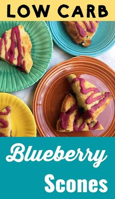 This recipe for low carb keto blueberry scones is just the thing for a good old English tea time. Its Arkins Banting THM-S LCHF Grain Free Gluten Free and Sugar Free compliant. Healthy Eating Recipes, Clean Recipes, Lunch Recipes, Low Carb Recipes, Sweets Recipes, Sin Gluten, Gluten Free, Blueberry Scones, Banting