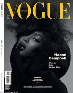 Naomi Campbell Monochrome maven: A series of front covers for Vogue Brazil's new issue have been released