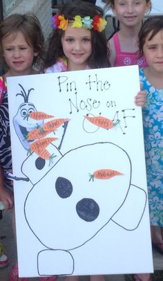 Pin the Nose on Olaf/Olaf in Summer Party