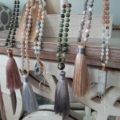 I had two little helpers, but the shop is now COMPLETELY UPDATED 🤗. lots of bracelets and a few malas to choose from! Tassel Necklace, Bracelets, Shopping, Instagram, Jewelry, Fashion, Suitcase, Moda, Jewels