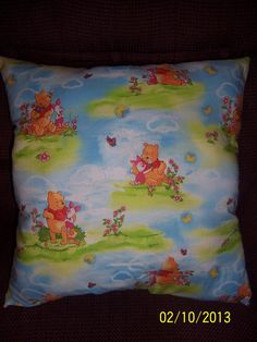 Handmade Winnie Pooh and Piglet  throw pillow by MawmaRosesCrafts, $15.00