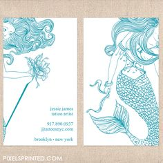 illustrator business cards, tattoo artist business cards, tattoo parlor business…