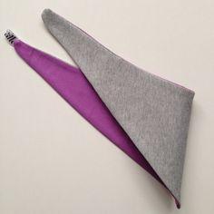 Halstuch grau Sweatshirtstoff / lila von kamallo auf DaWanda.com