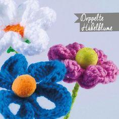 Doppelte Häkelblüte Crochet Necklace, Jewelry, Threading, Tutorials, Children, Jewlery, Crochet Collar, Bijoux, Schmuck
