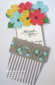 Flower Pot card…#stampyourartout #stampinup - Stampin' Up!® - Stamp Your Art Out! www.stampyourartout.com