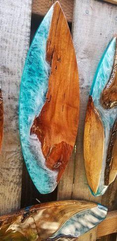 Epoxid Hawaiian tropical hardwood live edge Surfboard Resin Art Decor Bridesmaid Jewelry and Your cl Surfboard Art, Skateboard Art, Decoration, Art Decor, Custom Surfboards, Resin Furniture, How To Make Beer, Paddle Boarding, Long Boarding