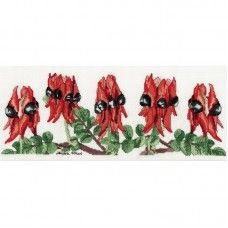 Sturt's Desert Pea Helene Wild Counted Cross Stitch Kit