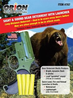 Can your bear spray scare away bears at 300 feet? Orion Bear Deterrent can RV Travel Survival Food, Camping Survival, Survival Tips, Camping Hacks, Camping Gear, Outdoor Camping, Rv Hacks, Survival Skills, Backpacking