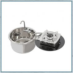 Can LC1701 Foldy Round Sink With Flip Over Hob – Camper Interiors