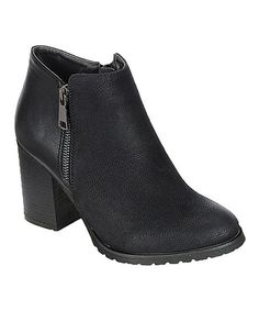 Another great find on #zulily! Black Zip Nora Boot #zulilyfinds