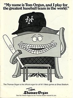 Check it out! Our newest addition Vintage Thomas Or... is available today at http://childhood-sports-memories.myshopify.com/products/vintage-thomas-organ-magazine-ad-new-york-mets-my-name-is-tom-organ-and-i-play-for-the-greatest-baseball-team-in-the-world?utm_campaign=social_autopilot&utm_source=pin&utm_medium=pin
