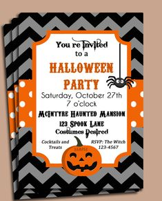 Halloween Party or Birthday Invitation
