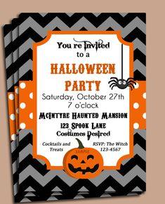 Halloween Party or Birthday Invitation