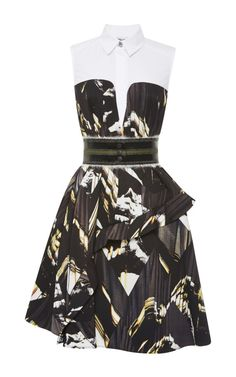 Ruffled Trompe L'Oeil Printed Dress by Kenzo Now Available on Moda Operandi
