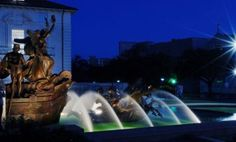 Littlefield Fountain at Night