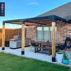 Outdoor Pergola, Diy Pergola, Pergola Kits, Outdoor Spaces, Outdoor Living, Cedar Pergola, Modern Pergola, Pergola Ideas, Backyard Patio Designs