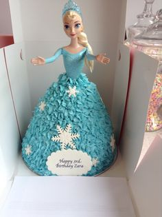 Elsa Dolly Varden Cake for another special little lady's birthday