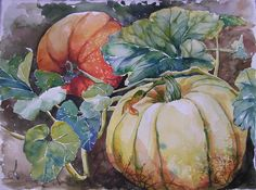 All right, I said I would paint a study of these pumpkins from the patch by coast highway; I rather like them! It's not a large one, and w...