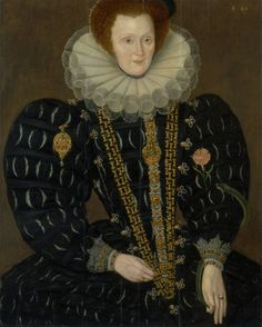 1591 - A Woman Called Lady Elizabeth Knightley by Marcus Gheeraerts the Younger