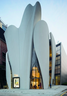 Image 33 of 53 from gallery of House of Dior Seoul / Christian de Portzamparc. Photograph by Christian de Portzamparc Architecture Durable, Architecture Unique, Architecture Portfolio, Concept Architecture, Futuristic Architecture, Facade Architecture, Sustainable Architecture, Landscape Architecture, Residential Architecture