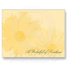 Sunflower, A Pocketful of Sunshine Postcard