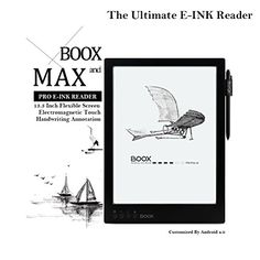 Onyx BOOX Max 133 Inch Eink Reader Android 40 Flexible Handwriting Screen 16GB * Visit the image link more details.
