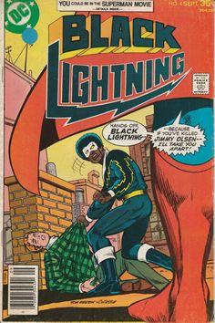 Black Lightning Vol. 1 No. 4  1977  Intro. Cyclotronic Man by TheSamAntics on Etsy