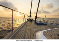 Stock Images similar to ID 174188882 - yacht sailing to the sunset