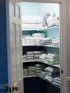 OK, this article has totally inspired me to clean up my act, as well, but what a fantastic read for Sellers!  A serious Buyer investigates all nooks and crannies of a home and nothing impresses like an organized linen closet.