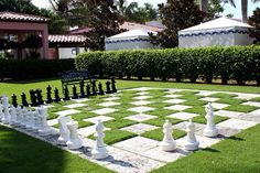 Outdoor chess. At the Boca Raton Resort & Club, Boca Raton, Florida.