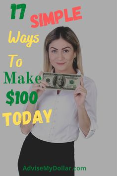 Start making money today! Making $100 a day can seem tough but it really doesn't have to be. This post shares 17 brilliant ways to make $100 dollars a day | Make Money Online | #onlinebusiness #earningmoney #makemoney #earnmoney #freelance #onlinemarketing #onlinejob #workfromhome #makemoneyonline #moneyideas #makemoneytoday #100dollarsaday #aff #makemoneyfast #makemoney #advisemydollar #makingmoneyideas Make 100 A Day, Make Money Today, Hobbies That Make Money, Make Easy Money, Make Money Blogging, Money Tips, Way To Make Money, Make Money Online, Things To Sell