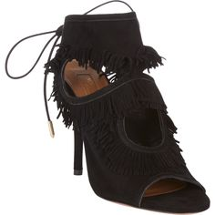 Aquazzura Sexy Fringe Booties at Barneys.com