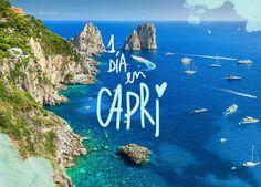 Capri es una escapada perfecta desde Nápoles. Si tienes pensada una excursión de un día a Capri, aquí va lo mejor que ver y hacer y toda la info útil. Capri Italia, Amalfi Coast, Dream Vacations, Places To Visit, Asia, Europe, Italy, World, Outdoor