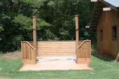 Outdoor Horse Wash Rack Wow.. this is really neat looking!