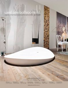 Dune bath from West One Bathrooms Dream Bathrooms, Beautiful Bathrooms, Luxurious Bathrooms, Modern Bathrooms, Modern Furniture, Home Furniture, Interior Design Boards, Minimalist Bathroom, Fireplace Design