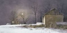 Ray Hendershot Evening at Long Farm Country Winter Nature Print Poster 19x13