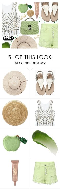 """""""Yoins: Sequins"""" by ana3blue ❤ liked on Polyvore featuring Burberry, Lipstick Queen, tarte and Zanellato"""